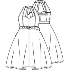Halterjurk in stijl van Brigitte Bardot (PDF patroon) - KM1305-19