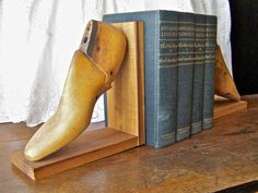 Vintage Cobbler Shoe Form Bookends by cynthiasattic on Etsy, $49.00