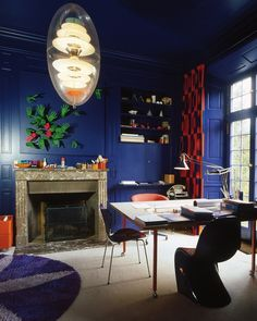 Designer Verner Panton's Home is Every Bit as Wild as You'd Expect | Apartment Therapy