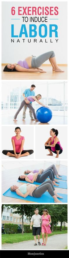 6 Effective Exercises To Induce Labor Naturally #Pregnancy
