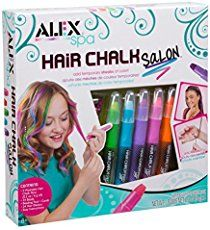 ALEX Spa Hair Chalk Salon Getting latest price. ALEX Spa Hair Chalk Salon Craft Kit lets your diva make her hair as vibrant as her perso. Tween Girls, Toys For Girls, Gifts For Girls, Girl Gifts, Kids Toys, Children's Toys, Kids Girls, 9 Year Old Girl, Hair Kit