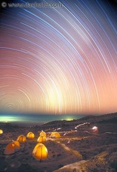 Star Trails at 16,000 above Mt. Kilimanjaro by Asmodel