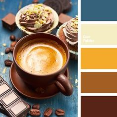 beige, Blue Color Palettes, brown, chocolate, chocolate color, color selection, dark brown, deep blue, house colors, Orange Color Palettes, rich brown, shades of brown, shades of chocolate.