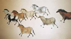 Lascaux Lascaux Cave Paintings, Cave Drawings, Art Activities For Kids, Stencil Painting, Ancient Artifacts, Native Art, Old Art, Western Art, Horse Art
