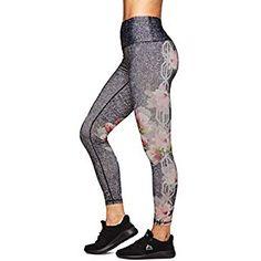 bffe7deca60764 RBX Active Women's Side Floral Workout Yoga Leggings Black Multi P18 S