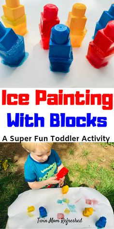 Ice Painting Activity for Toddlers - Twin Mom Refreshed Source by jerickert and me activities Summer Holiday Activities, Winter Activities For Toddlers, Activities For 1 Year Olds, Snow Activities, Science Activities For Kids, Toddler Learning Activities, Infant Activities, Summer Crafts, Outdoor Activities For Preschoolers