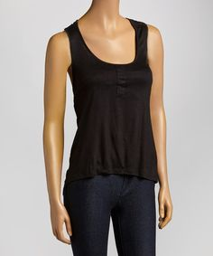 Look at this Raya Sun Black X-Back Tank on #zulily today!