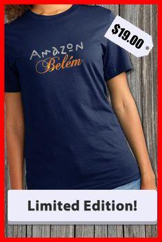 Amazing and unique T-shirt design Amazon Belém. Limited Edition!