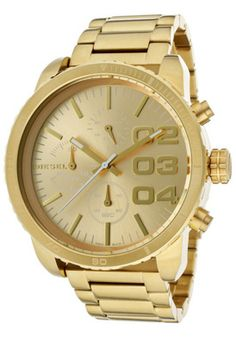 Diesel DZ5302 Watches,Women's chronograph Gold Dial Gold Tone