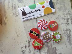 Handmade Christmas Button Badges