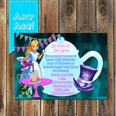 Alice in Wonderland birthday Invitation by MyPrintablePartyLine