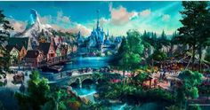 Hong Kong Disneyland concept art for Arendelle themed land