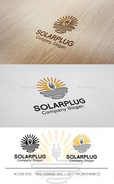 Buy Solar Plug Logo by Mr-goro on GraphicRiver. Solar Plug Logo, clean and unique, suitable to any kind of companies, Included files: - Ai - Eps - Txt . Circle Logo Design, Circle Logos, Best Logo Design, Logo Design Template, Logo Templates, Graphic Design, Solar Logo, Solar Companies, Flower Symbol