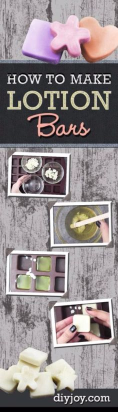 DIY Lush Inspired Recipes - DIY Lotion Bars - How to Make Lush Products like Bath Bombs, Face Masks, Lip Scrub, Bubble Bars, Dry Shampoo and Hair Conditioner, Shower Jelly, Lotion, Soap, Toner and Moisturizer. Copycat and Dupes of Ocean Salt, Buffy, Dark Angels, Rub Rub Rub, Big, Dream Cream and More. http://diyprojectsforteens.com/diy-lush-copycat-recipes