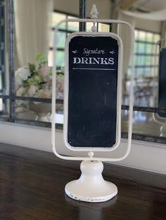 Wedding Drink Signs, Wedding Season, Wedding Decorations, Drinks, Closet, Furniture, Home Decor, Drinking, Beverages