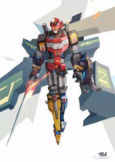 Game Character Design, Character Design Inspiration, Character Art, Power Rangers Fan Art, Mighty Morphin Power Rangers, Robot Concept Art, Robot Art, Robots, Power Rangers Megazord