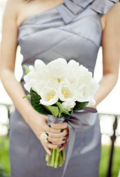 Love me some tulips; white for bridesmaids?