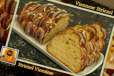 Sweet and That's it: Viennese Braided Loaf (Striezel) - Striezel Viennese (Brioche Intrecciata) Your Recipe, Mondays, Banana Bread, Breads, Rolls, Yummy Food, Baking, Future, Sweet