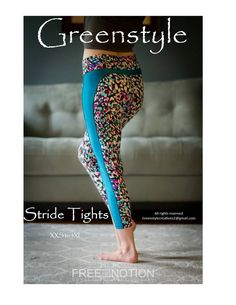 Updated Stride Athletic Tights PDF Sewing Pattern XXS to – GreenStyleCreations Diy Clothing, Sewing Clothes, Pdf Sewing Patterns, Clothing Patterns, Fashion Patterns, Sewing Hacks, Sewing Crafts, Sewing Ideas, Sewing Tips