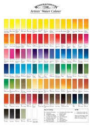 carta de colores de acuarela de la marca winsor and newton - Buscar con Google