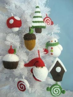 Christmas Ornament Knit Pattern Set