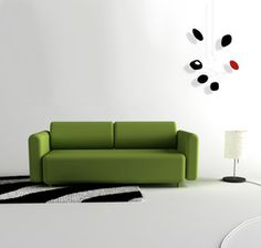 I like a nice, green couch.
