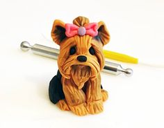 Yorkshire Terrier Tutorial | Cake Dutchess. I think I could do this with clay.