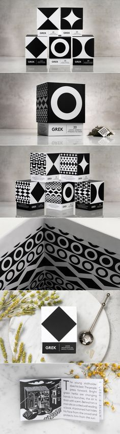 This Greek Tea Has a Beautiful Modern Geometric Look — The Dieline | Packaging & Branding Design & Innovation News