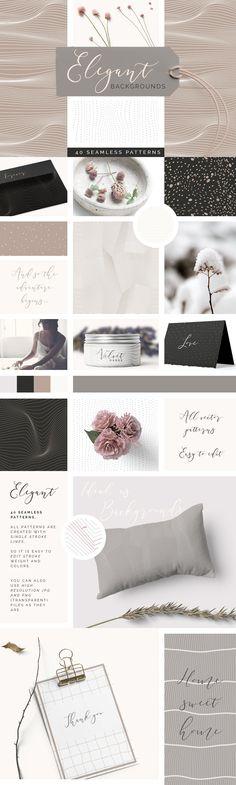 Elegant Background Patterns by Youandigraphics on @creativemarket