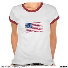 #USA Flag Tee Shirts