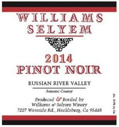 2014 Williams Selyem Pinot Noir Russian River Valley