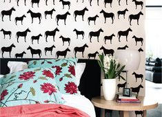 Removable horse stickers. what a cool idea as if you get bored of them (don't think i would!), you can remove them again. How cool is that. thewallstickercompany