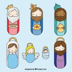 simple y lindo Nativity Clipart, Diy Nativity, Christmas Nativity Scene, Nativity Scenes, Simple Christmas, Handmade Christmas, Christmas Time, Christmas Crafts, Christmas Ornaments