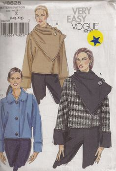 ON SALE Vogue V8625 Sewing Pattern Misses Jackets by OhSewWorthIt, $4.40