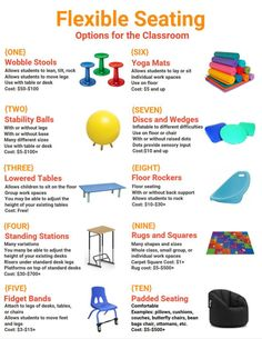 Options for flexible seating in the (elementary) classroom #childrenfurniture