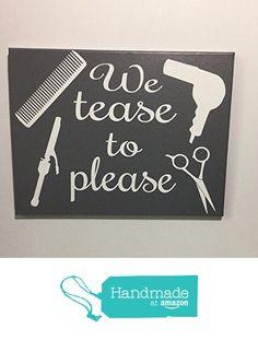 Painted canvas sign - hair salon decor - gift for hair stylist - beauty salon…