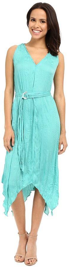 Adrianna Papell V-Neck Hankerchief Dress
