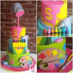Arts & Crafts themed Cake