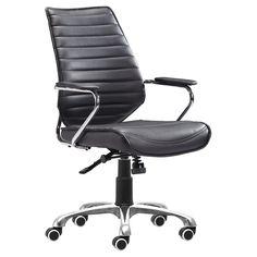 Enterprise Low Back Office Chair Black - Zuo