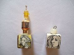Mary Lou Higgins ** CHRISTMAS ** TWO Ornaments w Gold and Silver Lustreware (11/29/2013)