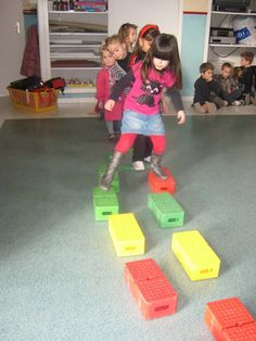 During the motor skills sessions we often build courses The one