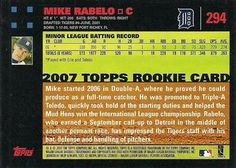 2007 Topps - Red Back #294 Mike Rabelo Back