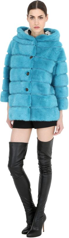 Hooded Mink Fur Coat | #Chic Only #Glamour Always