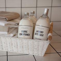 DE LUNARES Y NARANJAS: Laundry, la nueva colección de detergentes y suavizantes de Zara Home