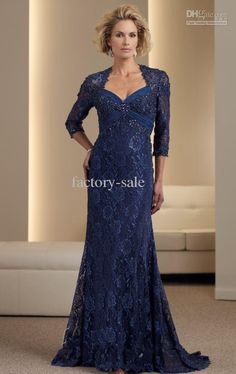Wholesale 2013 Sexy Mermaid Mother of Bride Dresses Navy Blue Lace Bolero Mothers Evening Dresses 111953, Free shipping, $119.84-129.92/Piece | DHgate