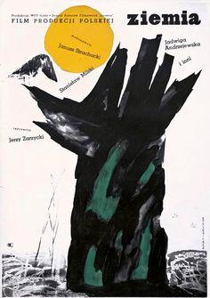 Jan Lenica (1928-2001). Póster del film Ziemia (1957) de Jerzy Zarzycki. http://www.yekibud.es/2013/11/18/un-dia-con-javier-zabala/