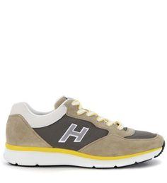 HOGAN Sneaker Hogan H254 Traditional 20.15 In Camoscio Beige E Giallo. #hogan #shoes #sneakers