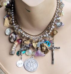 Just Wanna Have Fun Vintage Religious Gemstone by angels9 on Etsy, $108.00