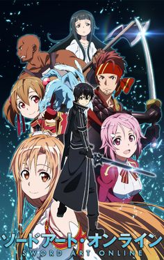 Sword art online (in dub version) Kirito,Asuna,Klein,Pina,Silica,Yui,Agil and Lisbeth