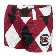 South Carolina Gamecocks Ladies' Loudmouth Arygle Mini Shorts these not sure who the f the gamecocks are lol Gamecock Nation, Gamecocks Football, Carolina Football, South Carolina Gamecocks, Mini Shorts, The Beautiful South, Patterned Shorts, Lady, To My Daughter